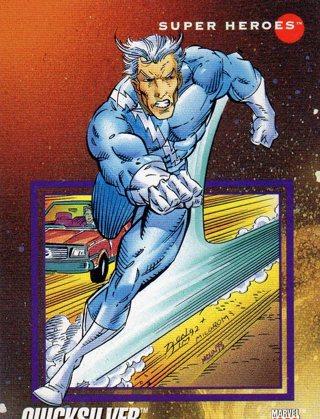 1992 Marvel Comic Trade Card: Quicksilver