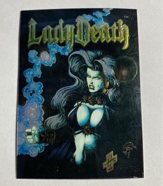 Lady Death Evil Ernie Chromium Promo card Chaos Krome 1994