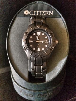 Free citizen eco drive 180 titanium professional diver two tone watches - Citizen titanium dive watch ...