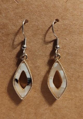 6 Diamond Shaped Enamel Earrings