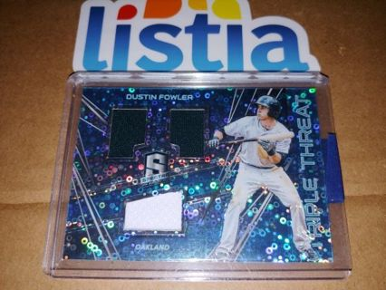 DUSTIN FOWLER⭐OAKLAND A'S⭐2018 PANINI SPECTRA⭐BUBBLE REFRACTOR⭐TRIPLE RELIC #/99!!⭐FREE $HIPPING