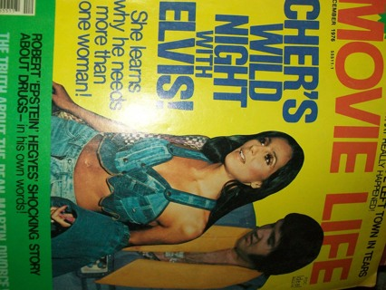 Movie Life December 1976 Issue, Cher and Elvis Fling