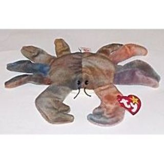 8361b749816 Free  TY BEANIE BABY CLAUDE TIE DYED CRAB PLUSH TOY 1996 RARE ...