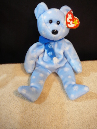 """Holiday Teddy"" Beanie Baby Bear with Tag"