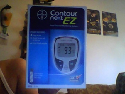 NIB BAYER CONTOUR NEXT EZ BLOOD GLUCOSE SYSTEM several supplies included...10 Custom Select Condoms!