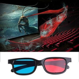 Universal 3D Glasses For Dimensional Anaglyph Movie Game DVD Red Blue
