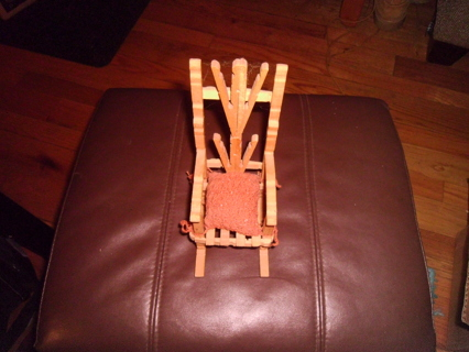 Fine Free Vtg Tramp Art Clothespin Rocking Chair With Hand Squirreltailoven Fun Painted Chair Ideas Images Squirreltailovenorg