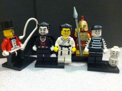 Set of 5 Lego Mini figures - Free Ship