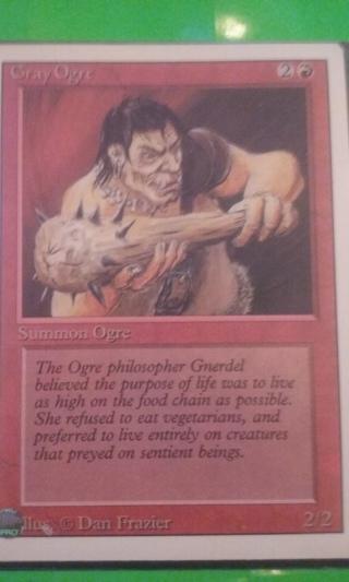 mtg ccg rev card   gray ogre  free shipping