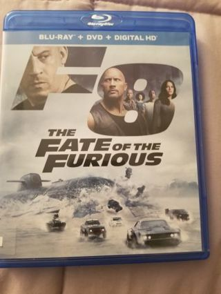 The Fate of the Furious DVD and Blue Ray Combo