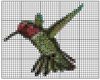 free hummingbird 4 cross stitch pattern email only