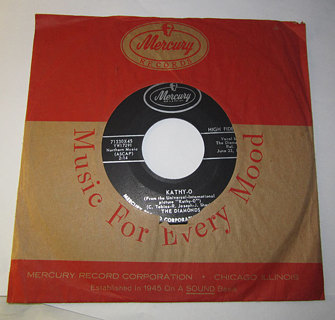 THE DIAMONDS HAPPY YEARS & KATHY-0 45 RECORD WITH JACKET!!!