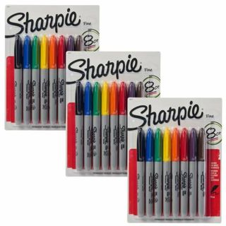 ⭐ 1 PACKAGE OF 8 COLORED SHARPIES⭐