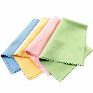 CHOOSE ANY 1 OF 2 COLORS- Microfiber Cleaning Cloths for Lenses, Glasses, Watches 6 x 7 Inches