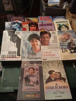 18 VHS Movies