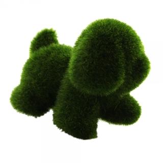 Brand New Super Cute Artificial Grass Doggie Deco Handicraft