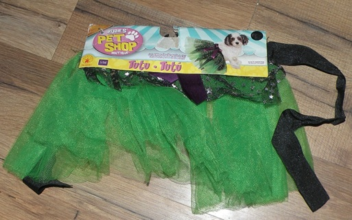 Rubie's Pet Shop Boutique Pet Dog Halloween Green Tutu SIZE Small/Medium (HB5)