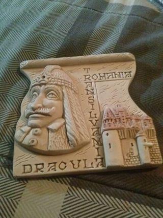 Dracula Romania Trasylvania plaque