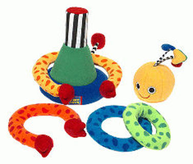 FREE: Tiny Love Stacking toy 6m - 3yrs (missing top piece) ~ NO shipping  fee.