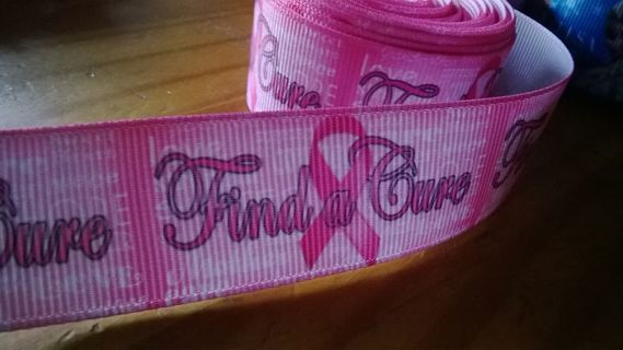 1yd Find a Cure Ribbon Breast Cancer