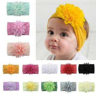 Cute Kids Girl Baby Headband Infant Newborn  Flower Bow Hair Band Accessories