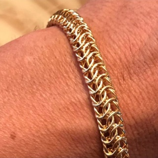 14k Italy Gold Braided Bracelet