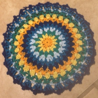 Hand Crochet Two Cotton Doilies and Free Gift