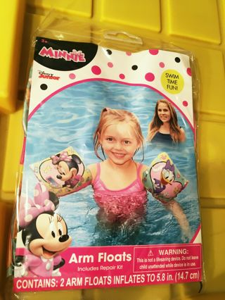 NEW Disney Junior Minnie Mouse Daisy Duck Water Arm Floats INCLUDES Patch Repair Kit FREE SHIPPING