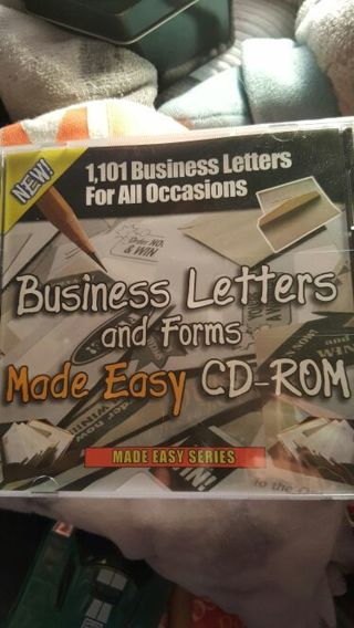 BUSINESS LETTERS AND FORMS MADE EASY ON CD-ROM OVER 1000 BUSINESS LETTERS FOR ALL OCCASIONS