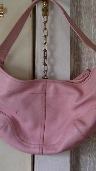 free coach light pink soho leather hobo purse handbag. Black Bedroom Furniture Sets. Home Design Ideas
