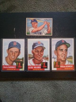 '52 & '53 Red Sox (Stephens, McDermott, Vollmer, Kennedy)