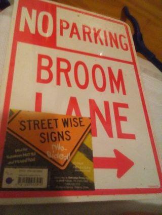 BNIP Halloween Parking signs.
