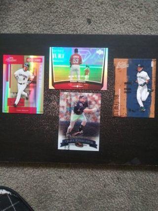 MLB #'d 4/25 Blalock, Abreu, Knoblauch & Ichiro