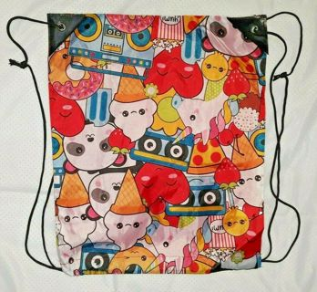 NEW Large KAWAII Rave Ice Cream Glam Sack Pack Ruck Backpack Carrier (NEW!)