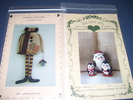 Free Primitive Snowman Sewing Pattern Wood Penguins Pattern