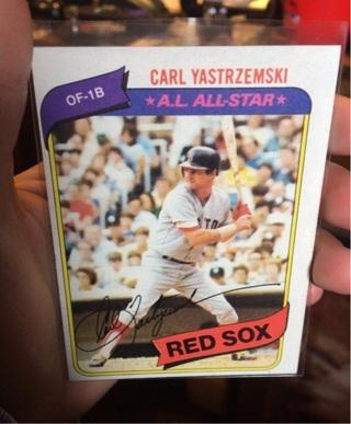 Carl Yastrzemski A.L. All-Star Red Sox Baseball Card OF-1B