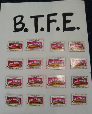 16 Boxtops for Education