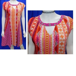 New Directions $49.99 Dress Ladies Medium Stretchy Pixie- Boho **SWING IN**