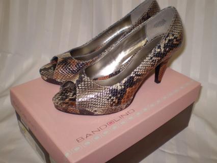38b43e56930 Free: Bandolino Snakeskin open toe pumps sz7M w/ 2in heel - BRAND ...