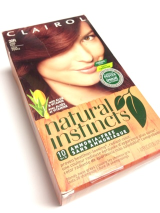 Clairol Natural Instincts dark red hair color / hair dye
