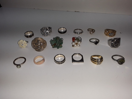 Huge Lot of RINGS Vtg, Swank, Gold, New, Costume, Stamped