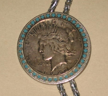 Free 1923 morgan silver dollar bolo tie w turquoise rs necklace 1923 morgan silver dollar bolo tie w turquoise rs necklace pendant mozeypictures Choice Image