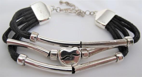 Unique Bracelet Black & Silver