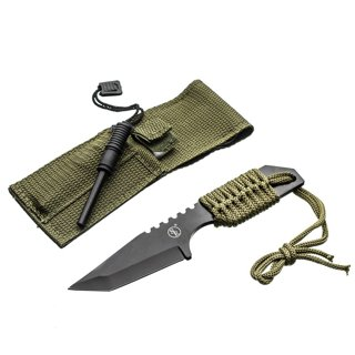 Survival Fixed Blade Outdoor Knife with Fire Starter