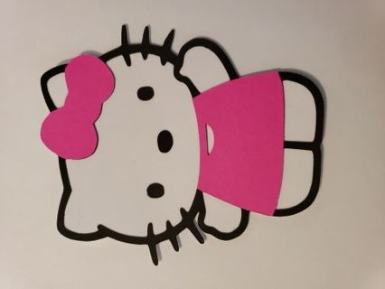 Hello kitty layered cut out