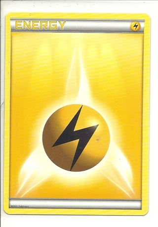 (PK-575) 2011 Pokemon card: Lightning Energy