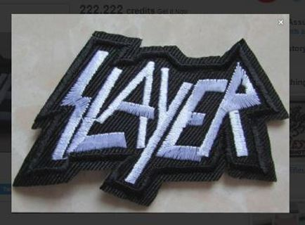 1 SLAYER BAND IRON ON PATCH METAL BAND MUSIC Applique embroidered FREE SHIPPING