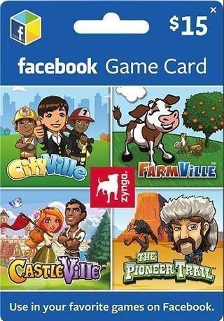 Zynga Facebook Games $15 eGift Card
