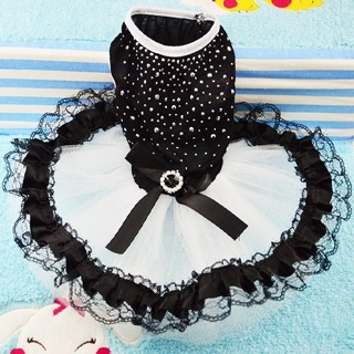[GIN FOR FREE SHIPPING] Dog Pet Bow Tutu Dress Lace Skirt Cat Puppy Princess Costume Apparel