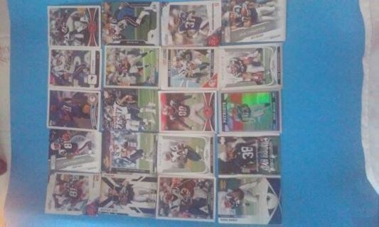 20 lot of New England Patriots cards
